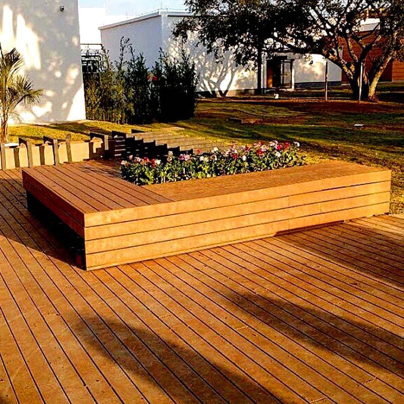 deck e bancos de madeira plástica rewood